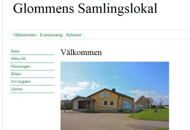 Ny hemsida -Glommens Samlingslokalsförening