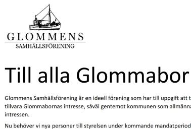 Till alla Glommabor