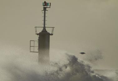 Bilder från stormen Egon
