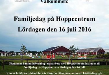 Familjedag på Hoppcentrum, Jump´n Glommen.