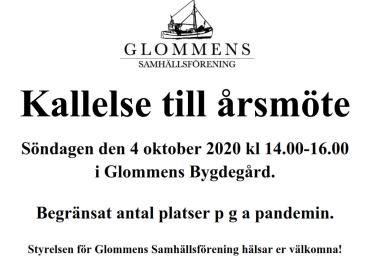 Årsmöte Söndagen 4 oktober